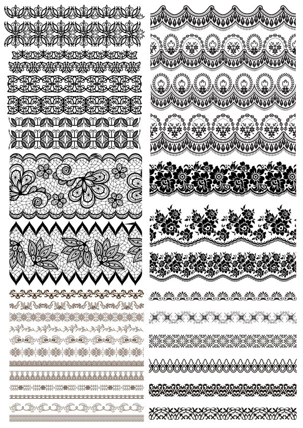 Lace Border Free Vector Art Free Vector