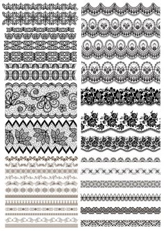 Free Vector Lace Border Free DXF Files & Vectors - 3axis co