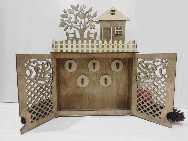 Laser Cut Wooden Key Cabinet Free Vector