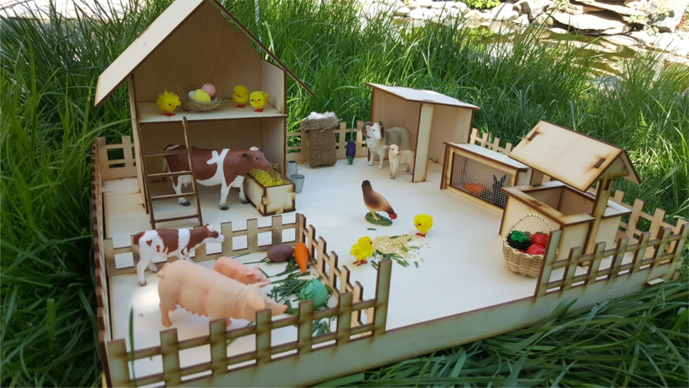 Laser Cut Wooden Kids Toy Farm Free Vector