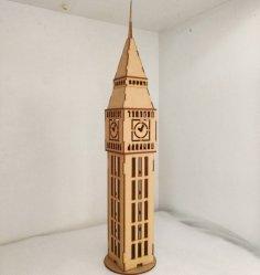 Laser Cut Big Ben 3D Model Free Vector