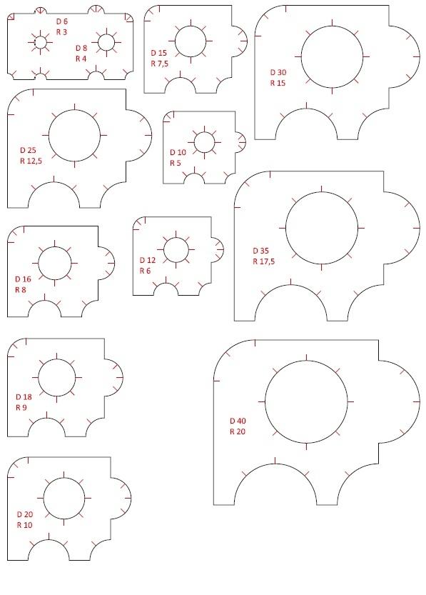 Laser Cut Radius Circle And Corner Cutting Stencils Free Vector