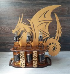 Laser Cut Dragon Beer Tray Free Vector