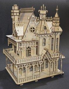 Laser Cut Fantasy Villa Free Vector