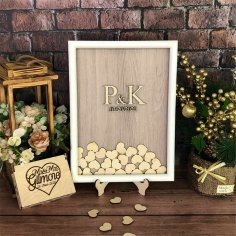 Laser Cut Wedding Guest Book Drop Box With Hearts Free Vector
