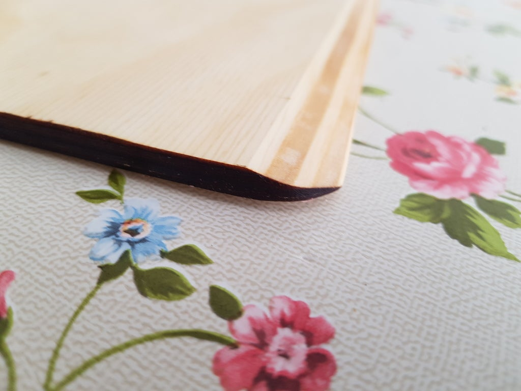 Laser Cut Pizza Peel Short Handle Plywood 6mm SVG File
