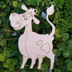 Laser Cut Engraved Cow Free Vector