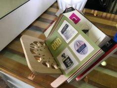 Laser Cut Book Stand SVG File