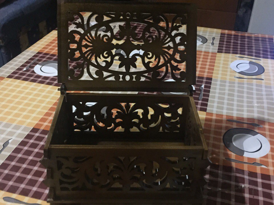 Decor Box with Lid Laser Cut CNC Plans PDF File