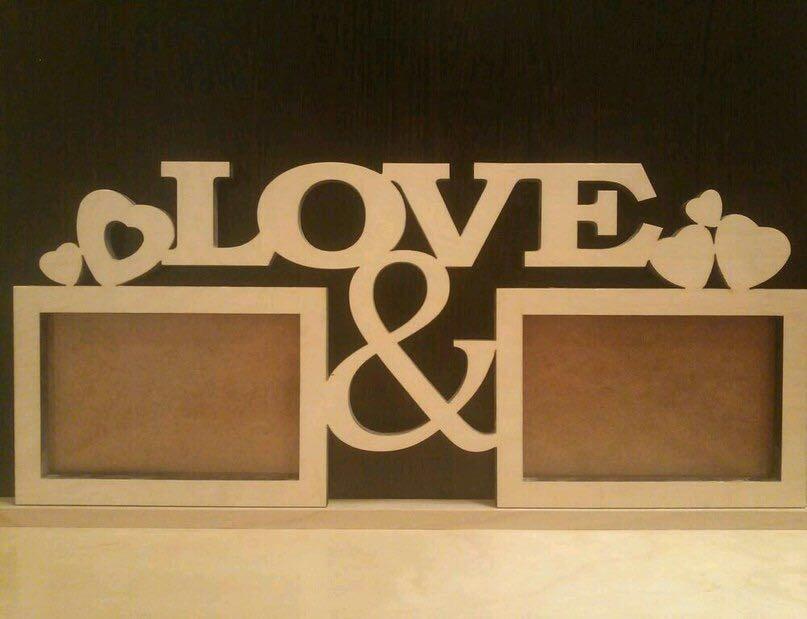 Laser Cut Plywood Decorative Love Frames Free Vector