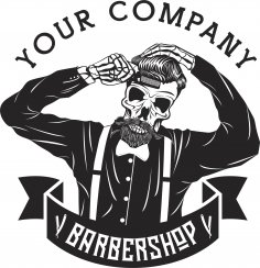 Barbershop Logo Design Free Vector