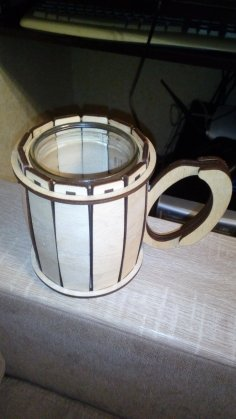 Laser Cut Cup Holder Free Vector