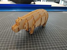 Laser Cut Hippo Template PDF File