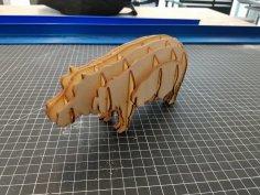 Laser Cut Hippo Template PDF File