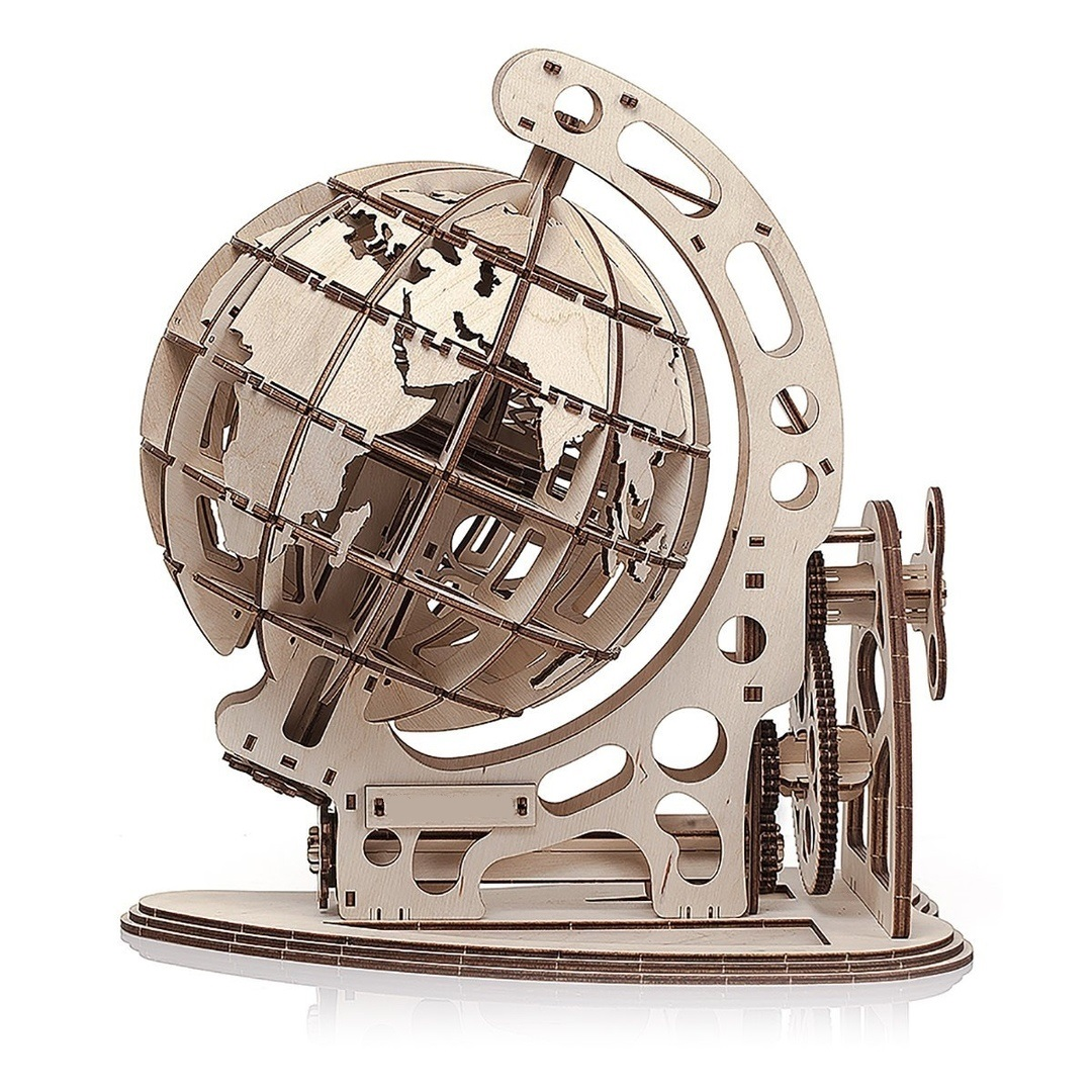 Laser Cut Globe Free Vector