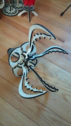 Laser Cut Wooden Claw DXF File