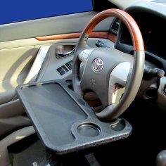 Laser Cut Car Steering Wheel Tray Free Vector