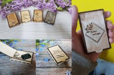 Laser Cut Engraved Mini Box 3mm Free Vector