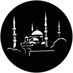 Laser Cut Islamic Wall Art Mosque Free Vector