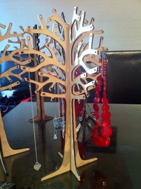 Laser Cut Jewelry Tree DXF File