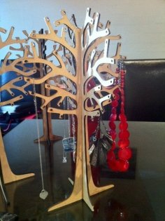 Laser Cut Jewelry Tree DXF File
