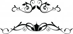 Floral Ornaments Free Vector