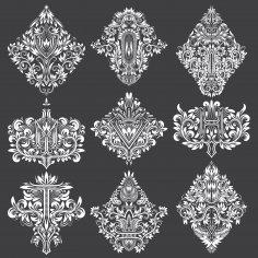 Amazing Floral Decorative Letters EPS File