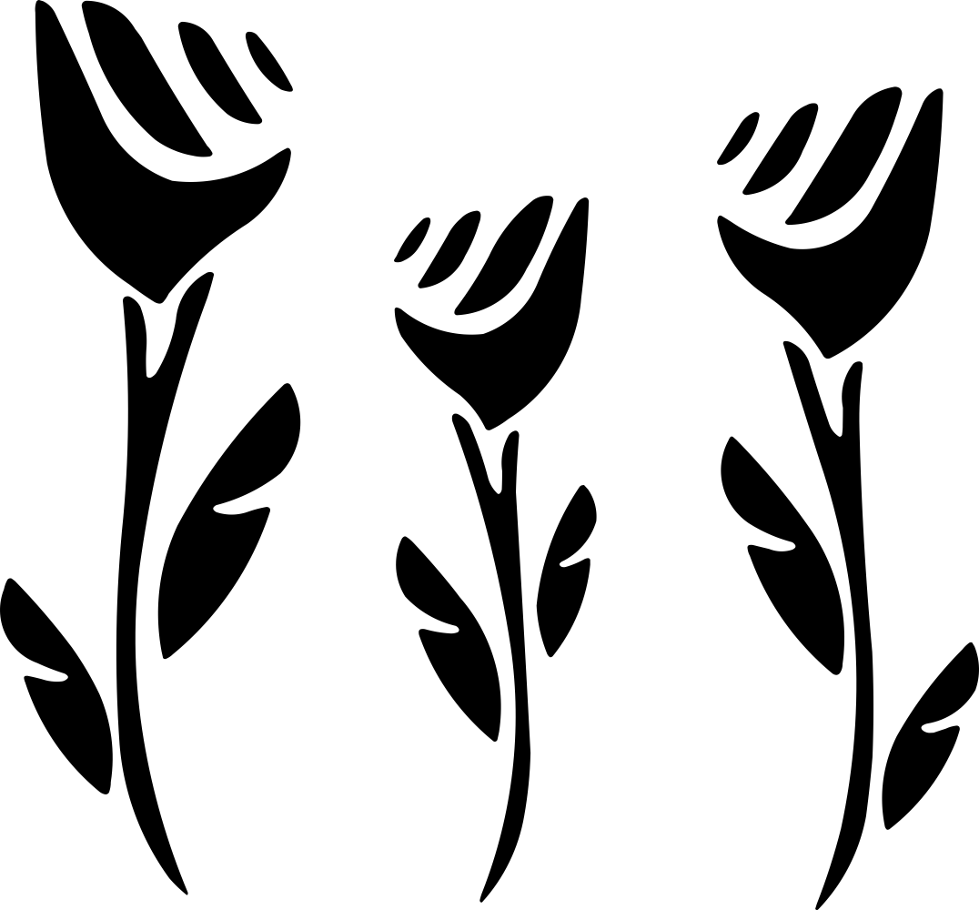 Monochrome Floral Vector Free Vector