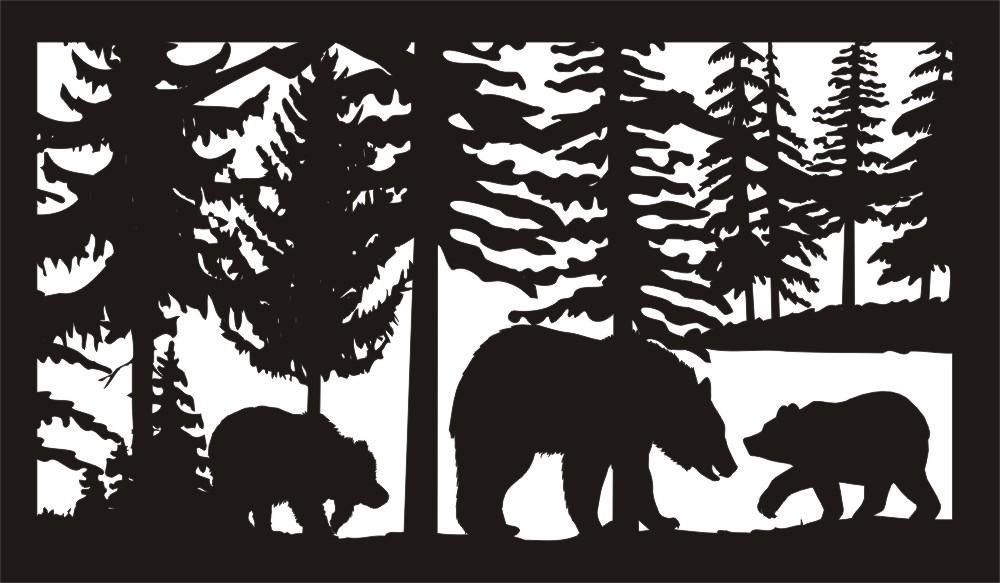 28 X 48 Three Bears Plasma Art DXF File
