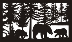 28 X 48 Three Bears Plasma Art DXF File