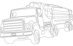 Wood Transportation Truck DXF File