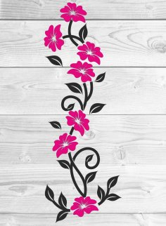 Laser Cut Floral Wall Decor Free Vector