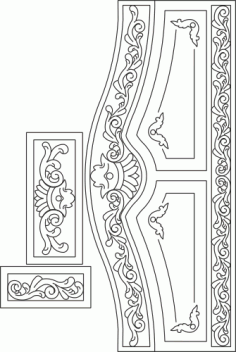 Laser Cut Headboard Free Vector