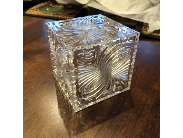 Laser Cut Twirl Box Ai File