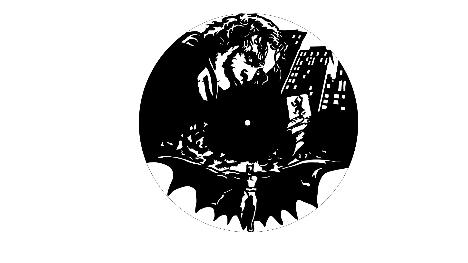 Batman Clock Laser Cut Free Vector