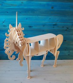 Unicorn Shelf 10mm Laser Cut CNC Plans DXF File