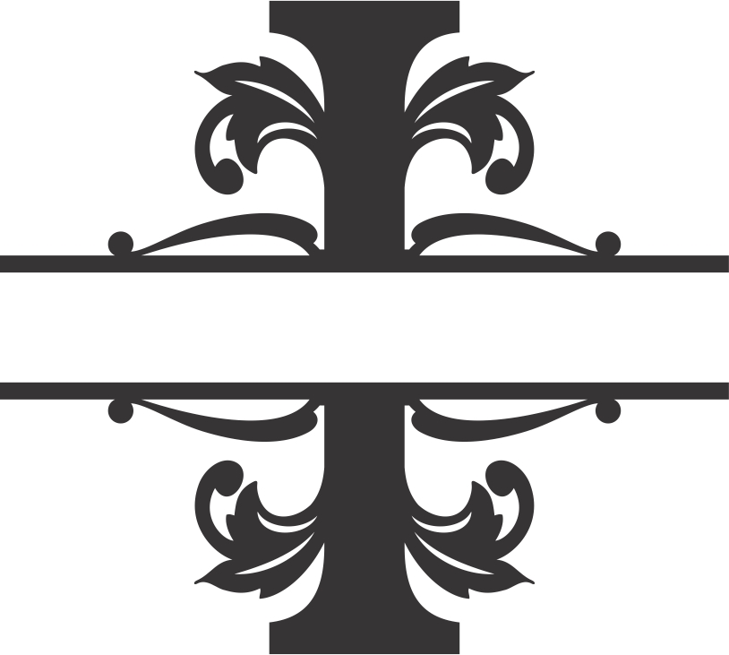 Regal Split Font I DXF File