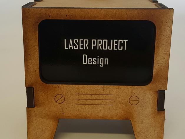 Laser Cut TV Free Vector