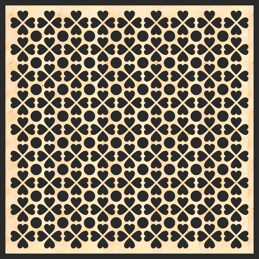 Decorative Grille Panel Board Pattern Free Vector