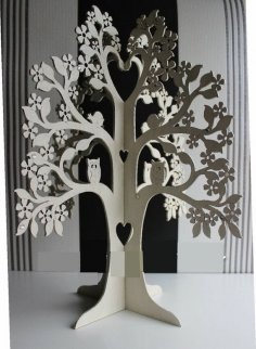 Laser Cut Jewelry Earrings Plywood Tree Free Vector