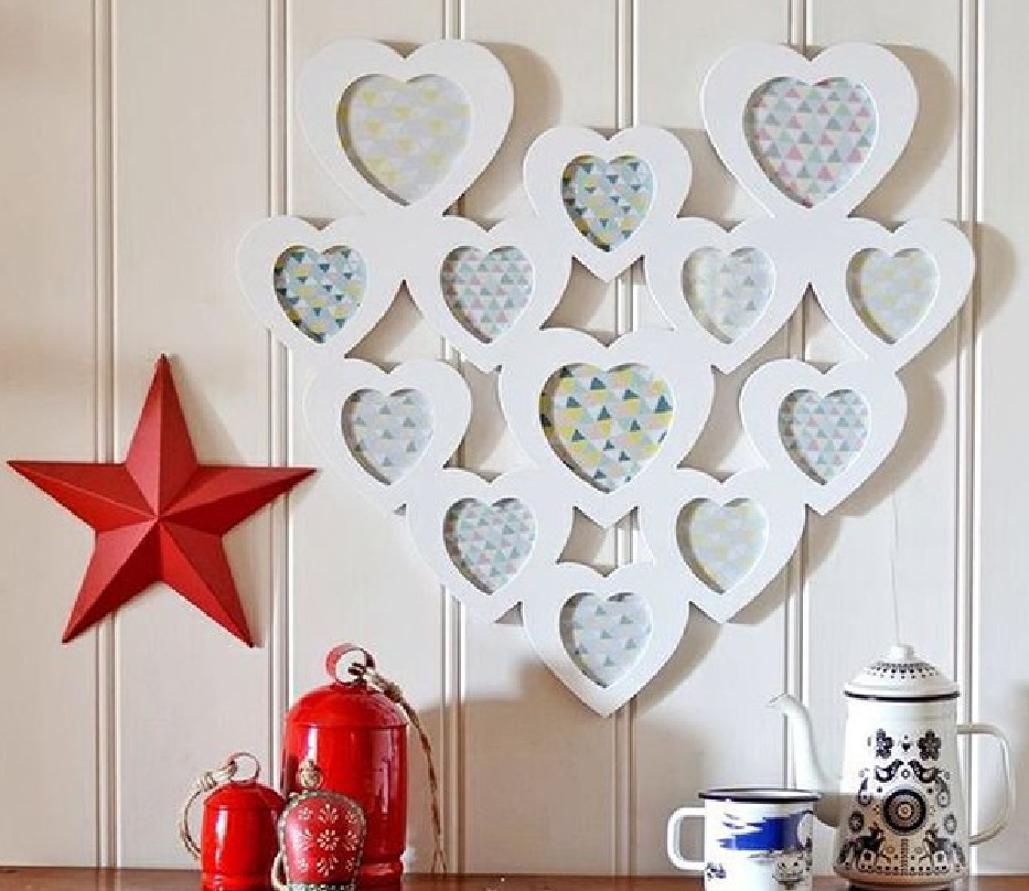 February 14 Frames Heart Shape for Laser Cutting Free Vector