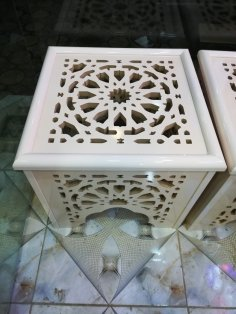 Laser Cut Decorative Stool Side Table Free Vector