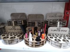 Laser Cut Cosmetics Organizer Makeup Organizers Makeup Storage Free Vector