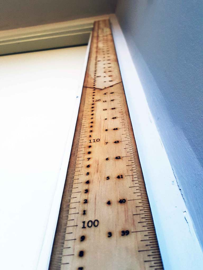 Laser Cut Portable Height Measuring Ruler DXF File