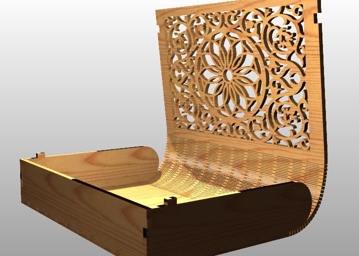 Laser Cut Book Casket Free Vector