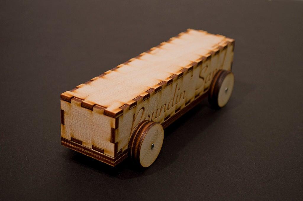 Laser Cut Derby Car 3mm Baltic Birch Plywood DXF File