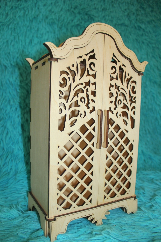 Laser Cut Kids Toy Cabinet Children Furniture Doll House Kids Toy House Free Vector