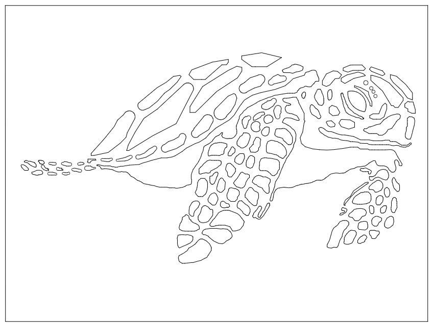 Laser Cut Sea Turtle DXF File