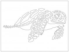 Laser Cut Sea Turtle DXF File