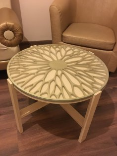 Laser Cut Modern Creative Round Table Top Free Vector
